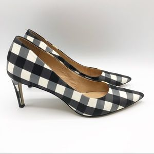 Anthropologie Bettye Muller Astor plaid heels S02